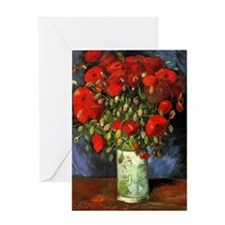 Van Gogh Red Poppies Greeting Card