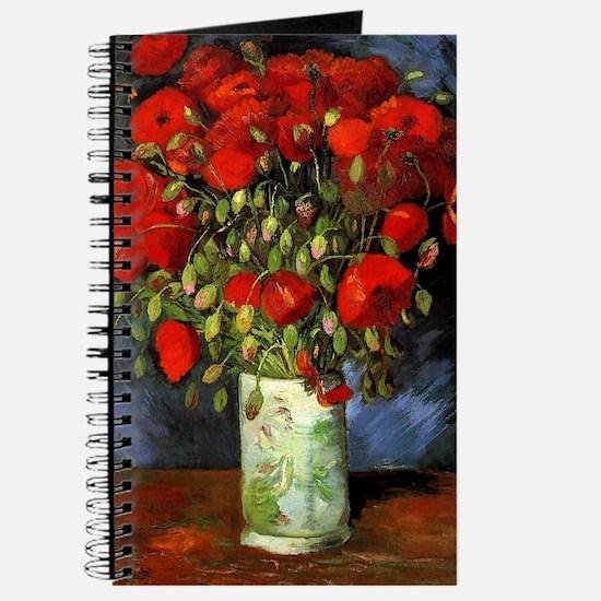 Van Gogh Red Poppies Journal