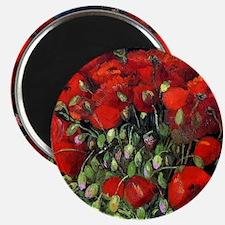 Van Gogh Red Poppies Magnet