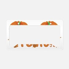 Halloween Pumpkin Trenton License Plate Holder