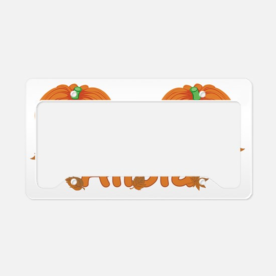 Halloween Pumpkin Alicia License Plate Holder