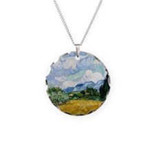 Wheat Field with Cypresses Necklace