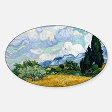 Wheat Field with Cypresses Decal