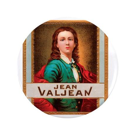 """Jean Valjean Tobacco Label 3.5"""" Button"""