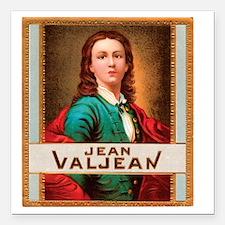 """Jean Valjean Tobacco Lab Square Car Magnet 3"""" x 3"""""""