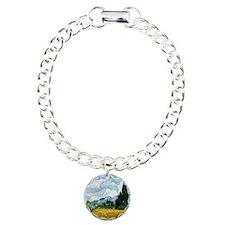 Wheat Field with Cypress Charm Bracelet, One Charm
