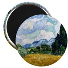 Wheat Field with Cypresses Magnet