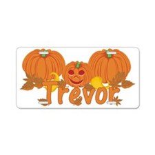 Halloween Pumpkin Trevor Aluminum License Plate