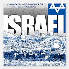 """Jerusalem, Israel Square Car Magnet 3"""" x 3"""""""