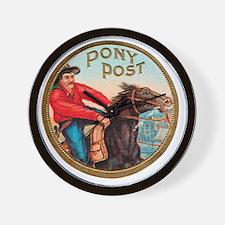 Pony Post Cigar Label Wall Clock