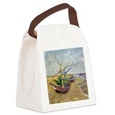 Van Gogh Fishing Boats Canvas Lunch Bag