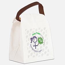 Lapel sticker Role Canvas Lunch Bag