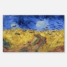 Wheatfield with Crows Sticker (Rectangle)