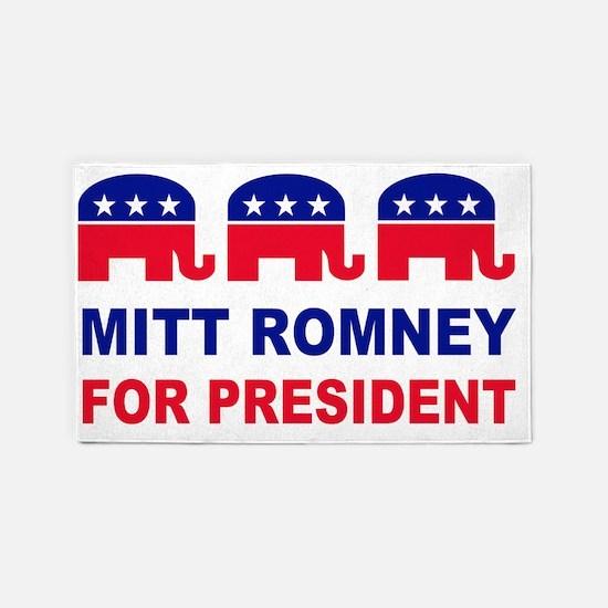 Mitt romney for president red white 3'x5' Area Rug
