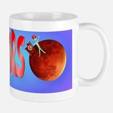 I Love Mars Bumper Sticker Mug