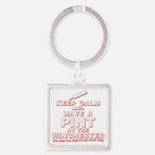 Keep Calm and Have A Pint Square Keychain