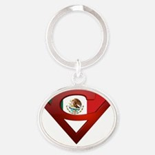 Chicanoman Oval Keychain