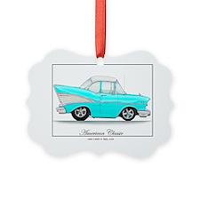Blue 57 Chevy Ornament