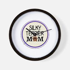 Silky Terrier Dog Mom Wall Clock