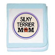 Silky Terrier Dog Mom baby blanket