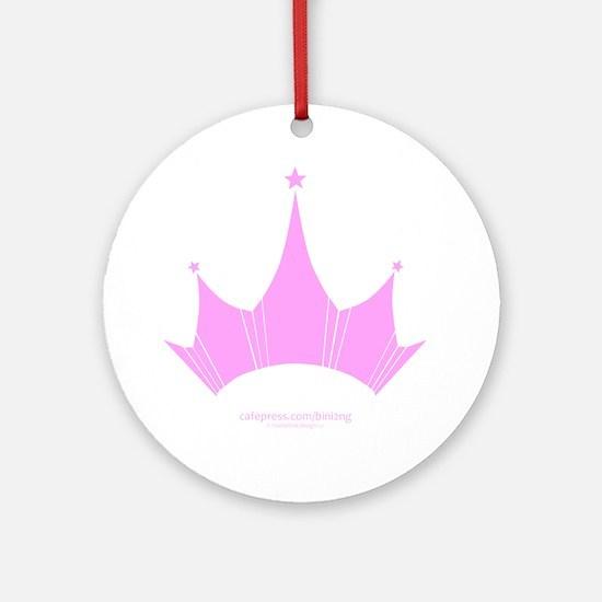 bini2ng crown Round Ornament