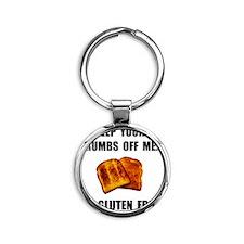 Crumbs Off Me Gluten Free Round Keychain