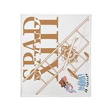 Spad XIII LaFayette Escadrille Throw Blanket