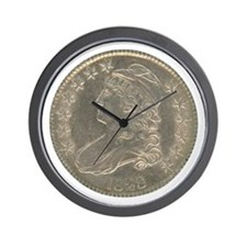 Bust Half Dollar Wall Clock