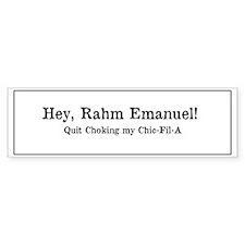 Rahm is Choking What?!? Bumper Sticker