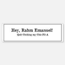 Rahm is Choking What?!? Sticker (Bumper)