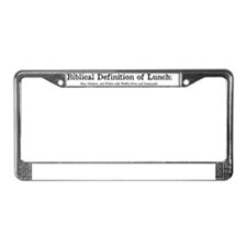 Biblical Definition of Lunch License Plate Frame