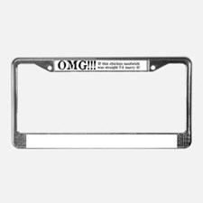 OMG!! Married to this Chicken  License Plate Frame