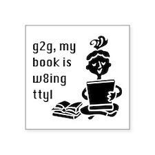 "g2 book w8ing Square Sticker 3"" x 3"""