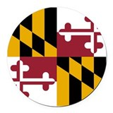 Maryland Round Car Magnets