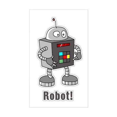 Robot! Rectangle Sticker