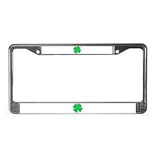Funny 4 leaf clover License Plate Frame