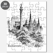Vintage Baltimore Monument Square Puzzle