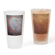 Chalk rainbow Drinking Glass