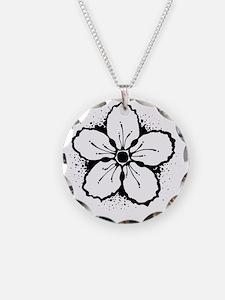 Monochrome Sakura Necklace
