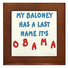 My Baloney Framed Tile