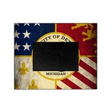 Detroit Flag Picture Frame