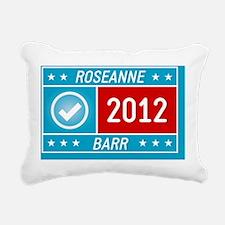 Roseanne Barr 2012 yard  Rectangular Canvas Pillow