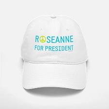 Roseanne for president peace sign Baseball Baseball Cap