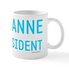Roseanne for president peace sign Mug