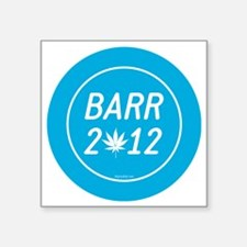 "Barr 2012 Weed Square Sticker 3"" x 3"""