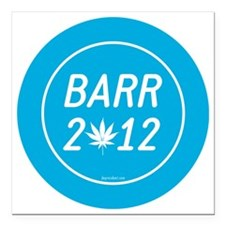 "Barr 2012 Weed Square Car Magnet 3"" x 3"""