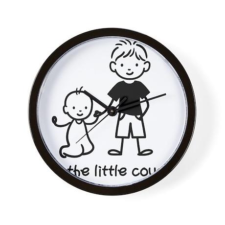 Little Cousin Stick Figures Wall Clock