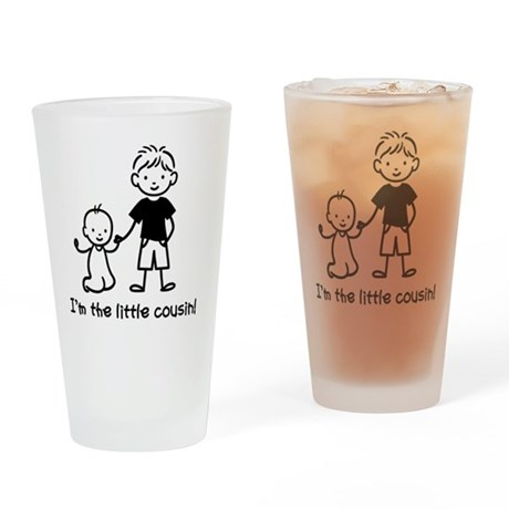 Little Cousin Stick Figures Drinking Glass