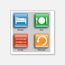 "The Code Monkey's Guide Square Sticker 3"" x 3"""