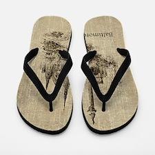Vintage Baltimore Flip Flops